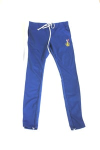 Image of BLUE WHITE STRIPE TRACK PANTS