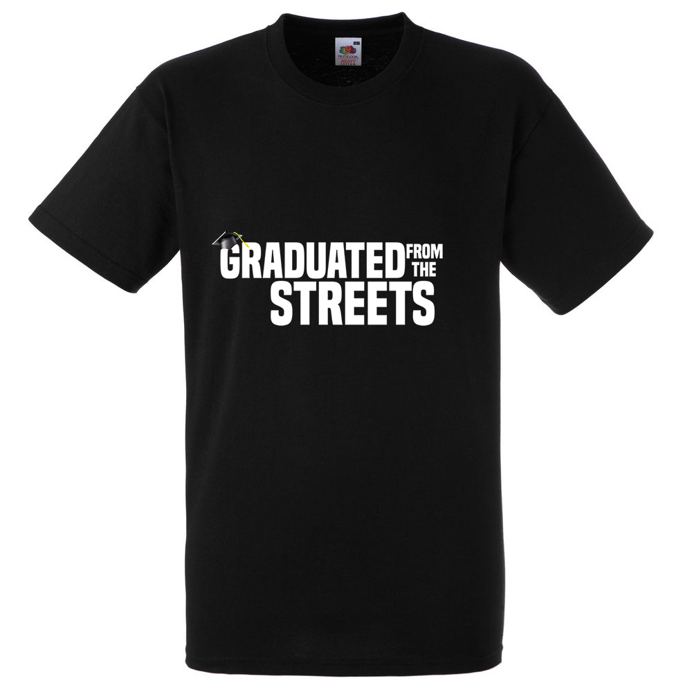 Image of Graduated from the Streets shirt (Black)