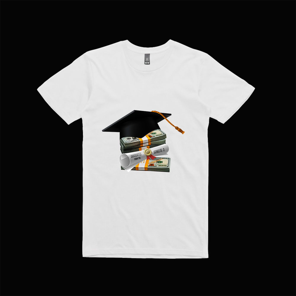 Image of Graduated from the Streets 2 shirt (White)
