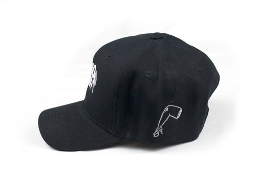 Image of Black Snapback Hat *KIDS SIZE*