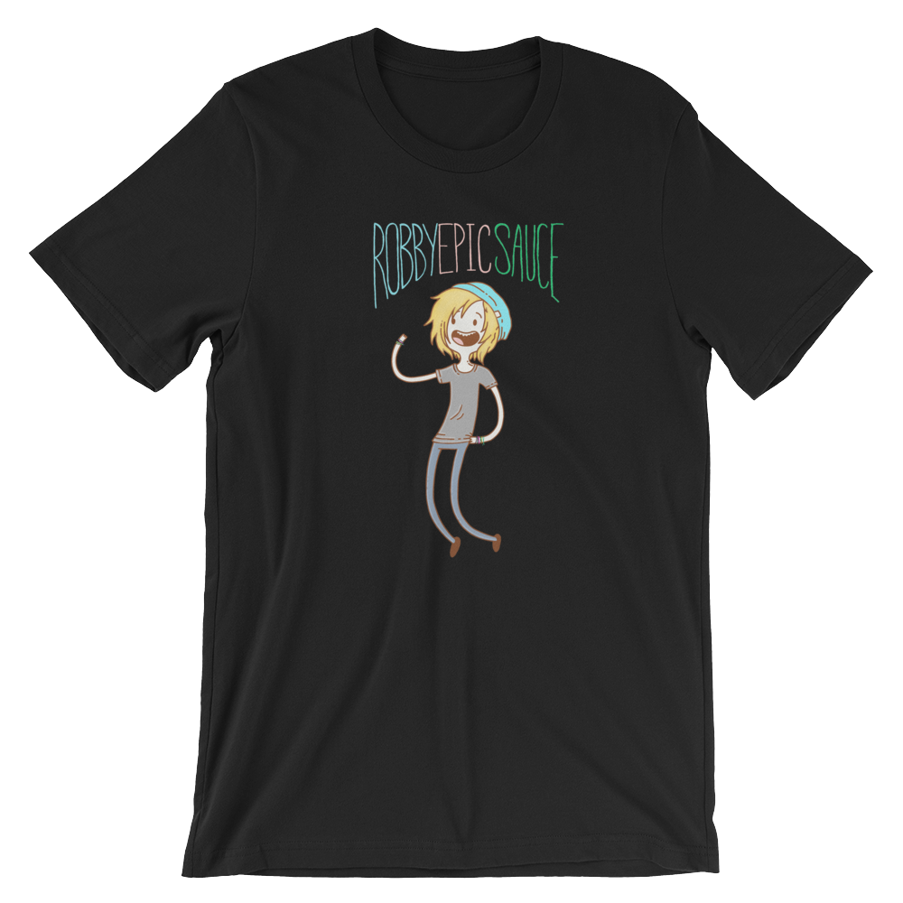 Image of RobbyEpicsauce Adventure Time cartoon shirt