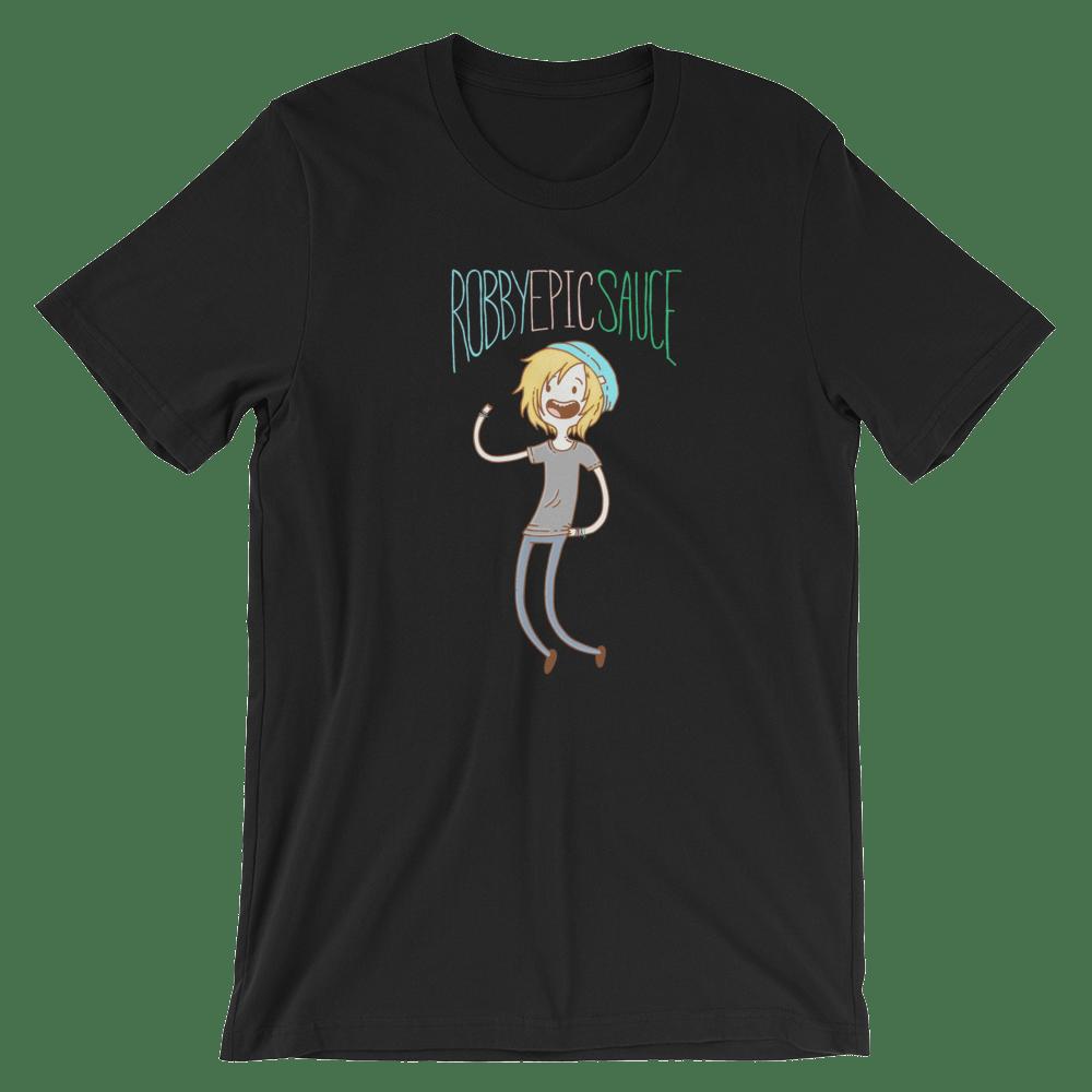 Image of RobbyEpicsauce Adventure Time cartoon shirt