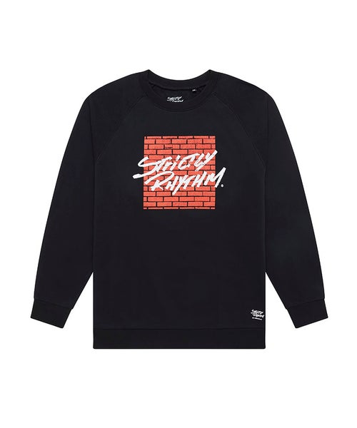 Image of Men's red brick logo sweatshirt black