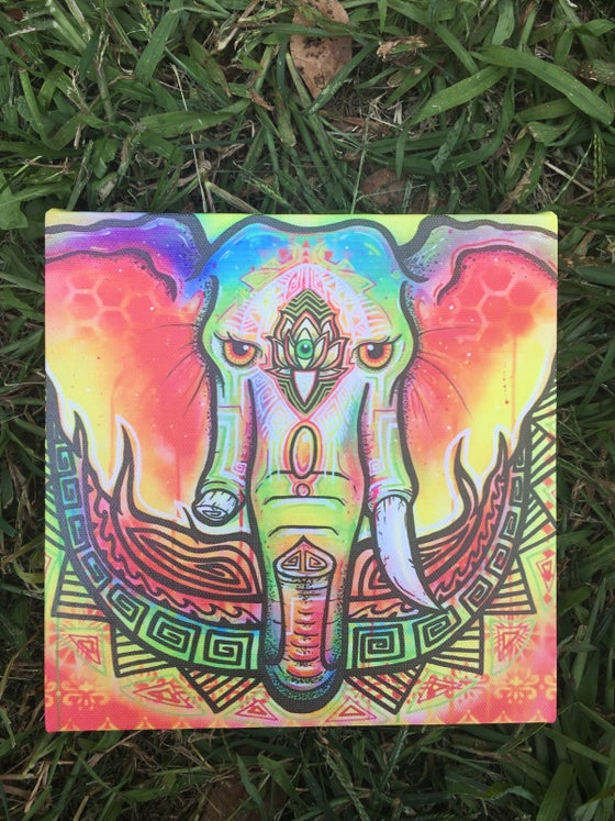 Image of Ganesha canvas print