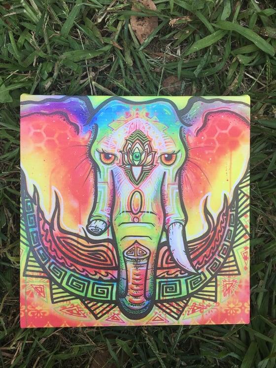 Image of Ganesha canvas print