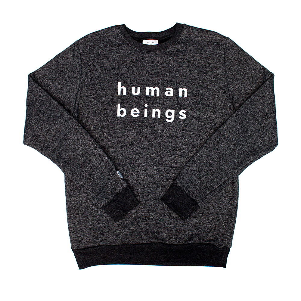 Image of human beings marled crewneck sweatshirt - Dark Grey