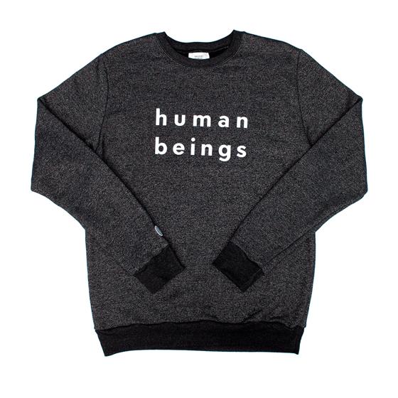 Image of human beings marled crewneck sweatshirt - Dark Grey