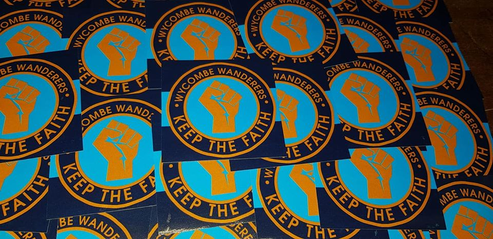 Image of Wycombe Wanderers, KTF, Casuals, Ultras Football Stickers. 7x7cm 25 pack.