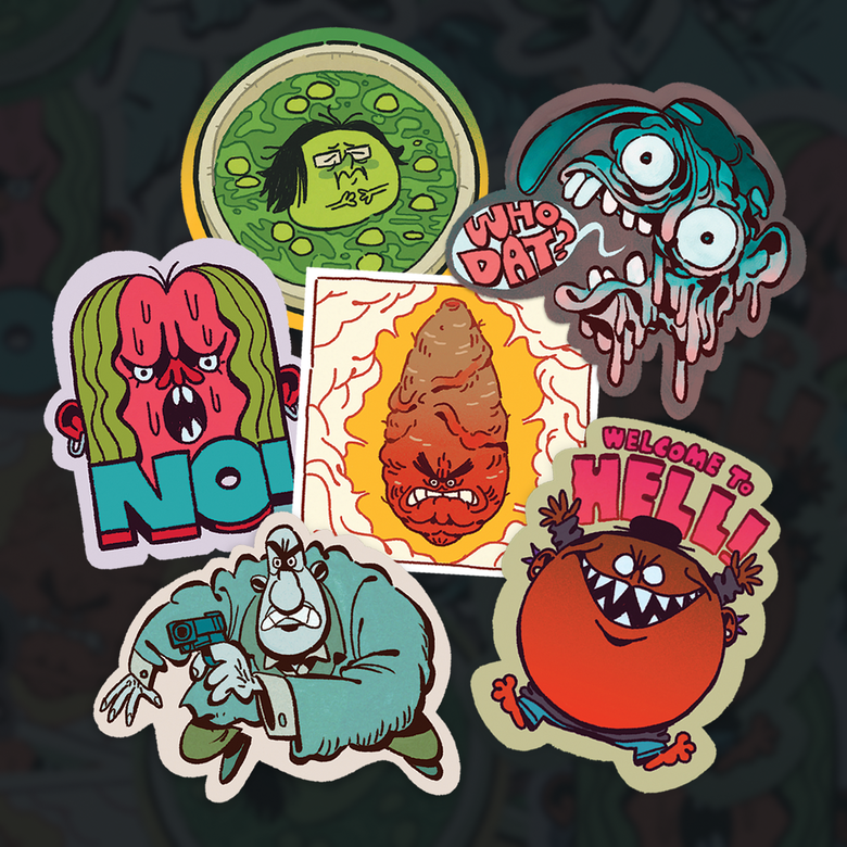 Image of The One Of A Kind Limited Edition Remus & Kiki™ Sticker Pack No.1 - 6pcs