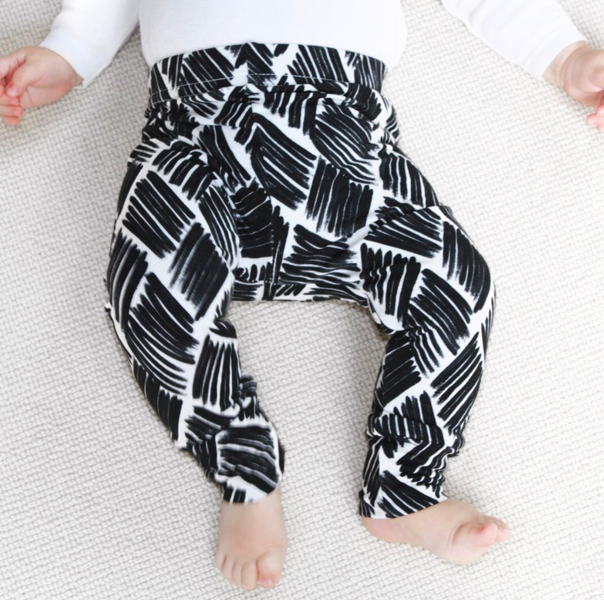 Image of  Mono Black Paint Baby & Childrens Leggings