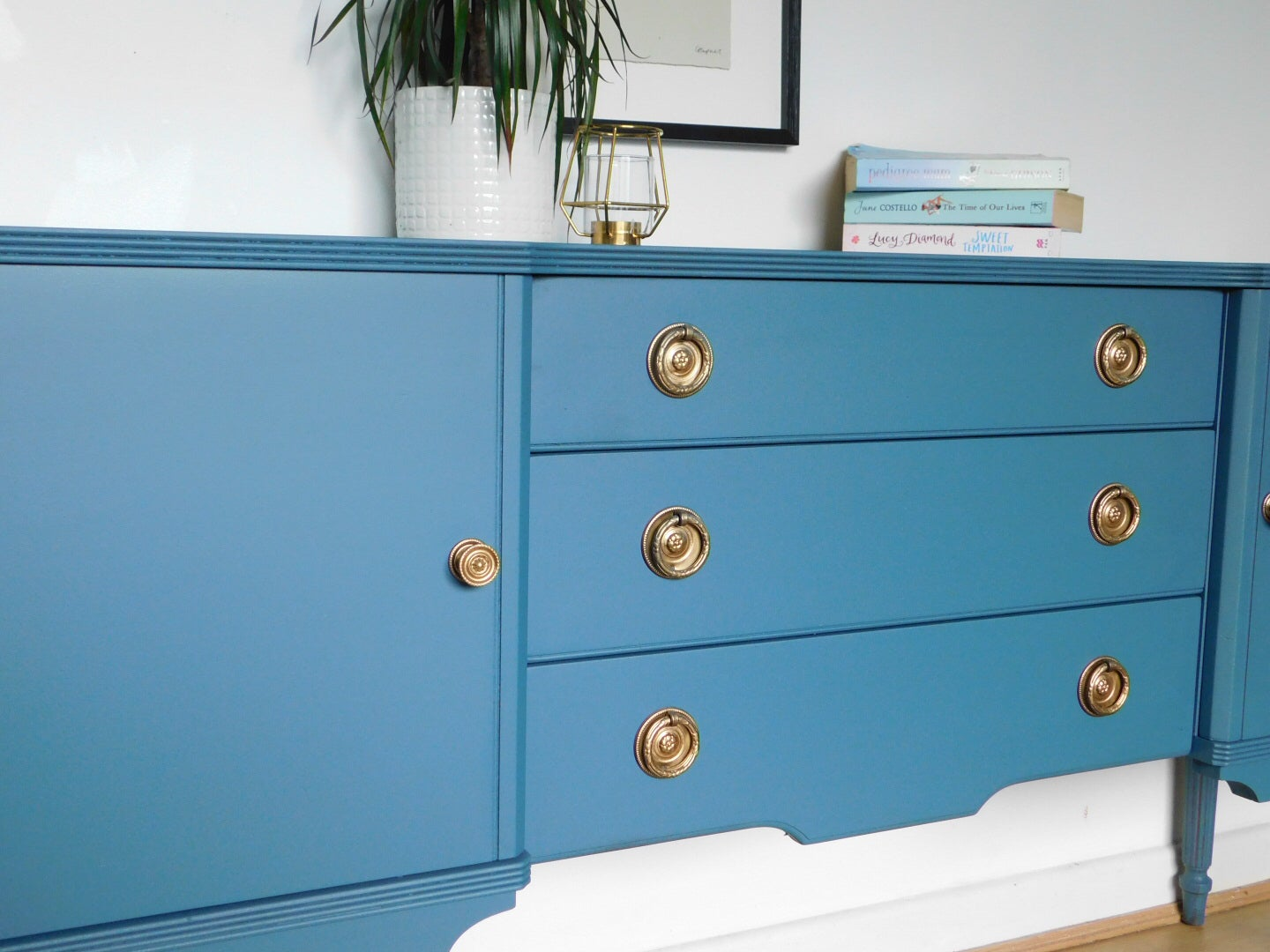 Image of A beautiful blue sideboard