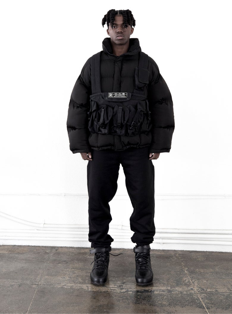 Image of Black Shell Puffer Jacket