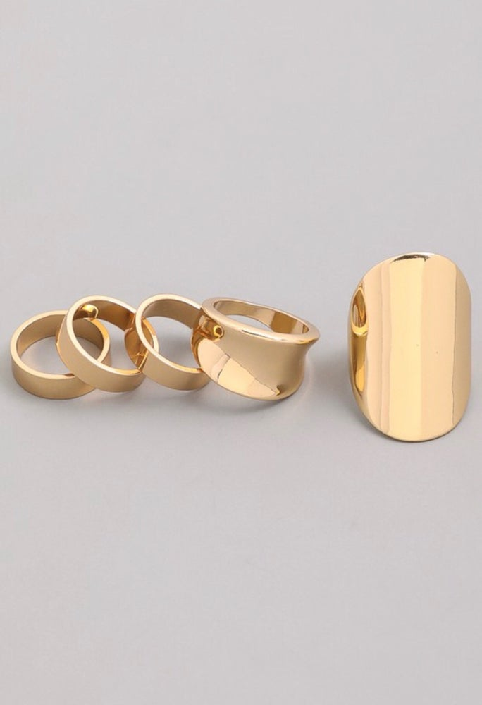 "Image of ""Jamie"" 5pc ring set"