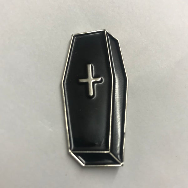 Image of Coffin Pin Badge