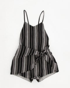 Image of tie front playsuit- ink