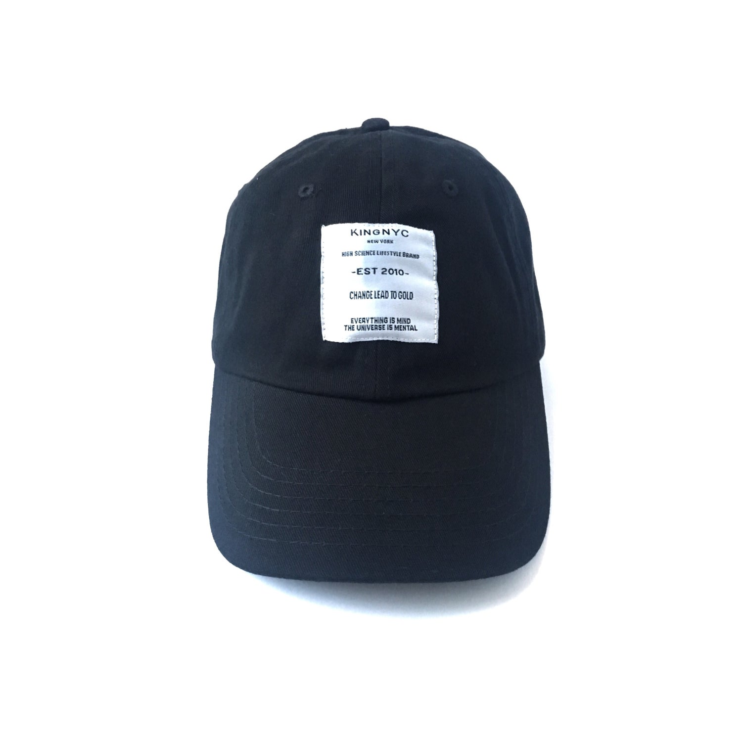 Image of KingNYC Lead II GOLD White Label Dad Hat