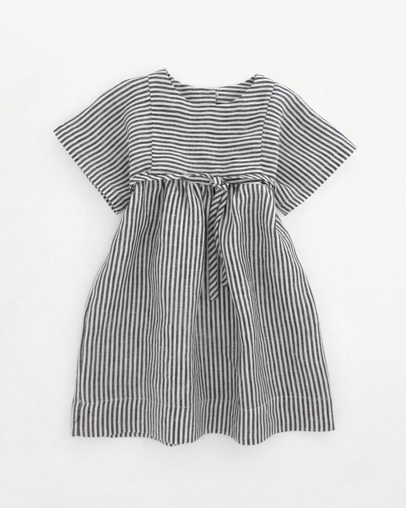 Image of olga dress- ticker stripe