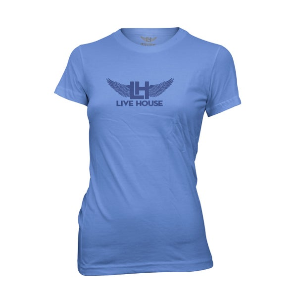 Image of Ladies Classic Wings (Navy On Light Blue)