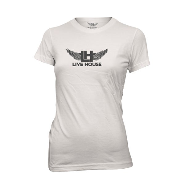 Image of Ladies Classic Wings (Black On White)