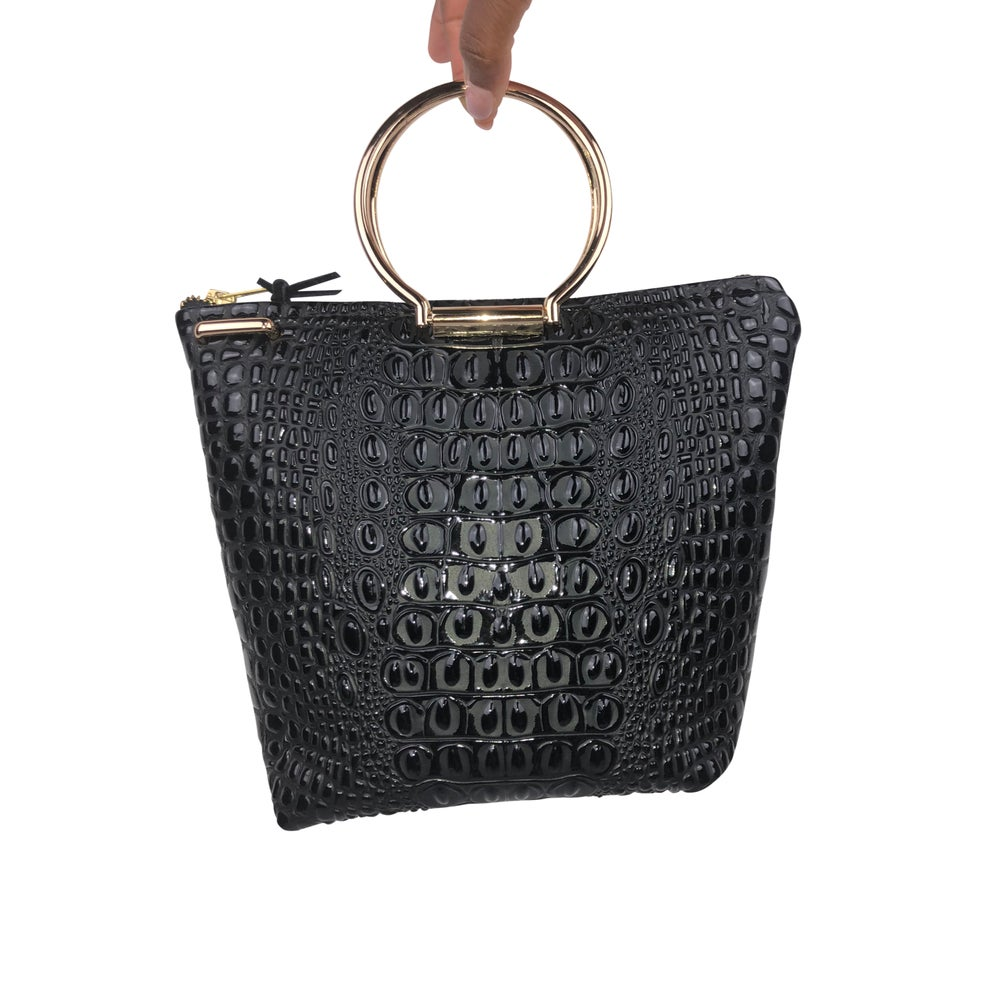 Image of Hyacinth Mini Tote - Croc Embossed Faux Leather
