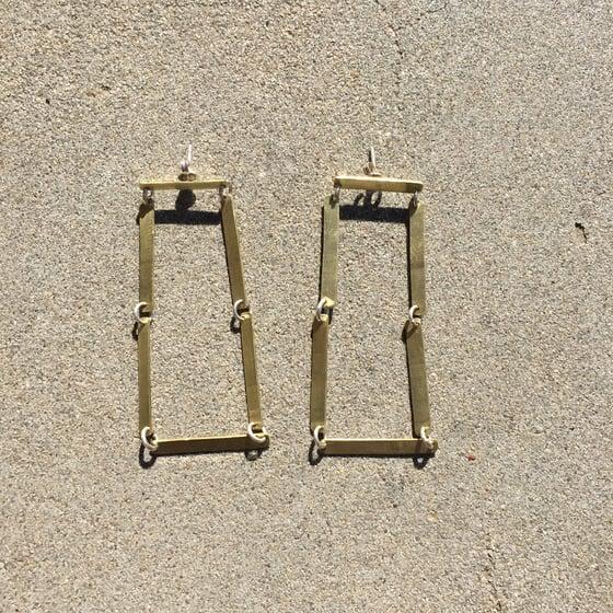 Image of Brass steps earring