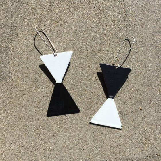 Image of Twin triangle earrings #2