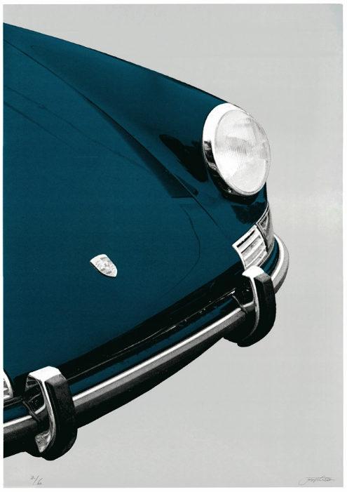 Image of Porche 911 Targa (blue grey)
