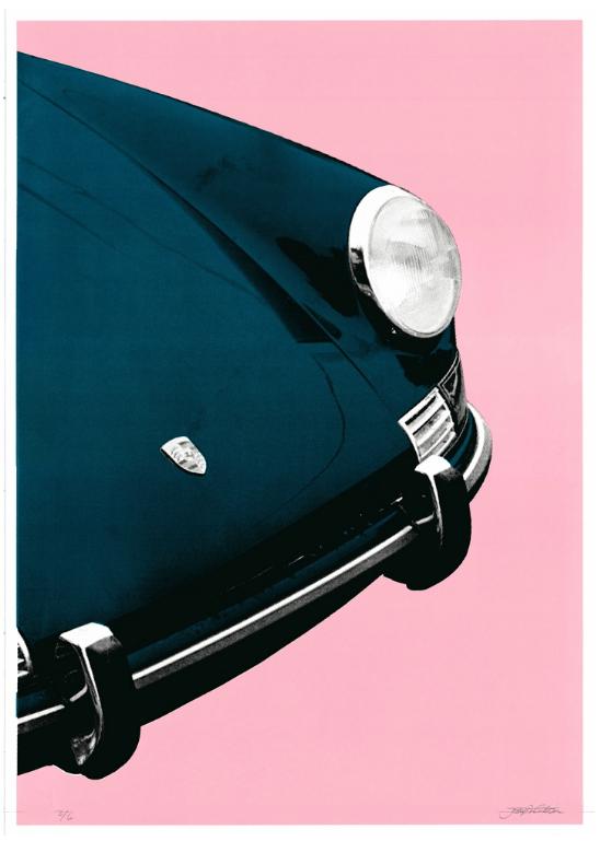 Image of Porsche 911 Targa (blue pink)