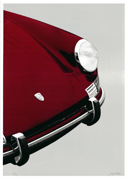 Image of Porsche 911 Targa (red/grey)