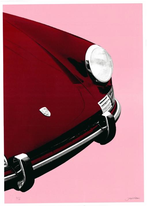 Image of Porsche 911 Targa (red pink)