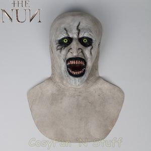 Image of New The Nun Full Head Mask Cosplay Conjuring Valak Horror Prop Version 2