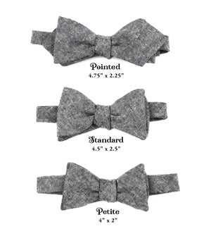Image of Black Linen Bow Tie
