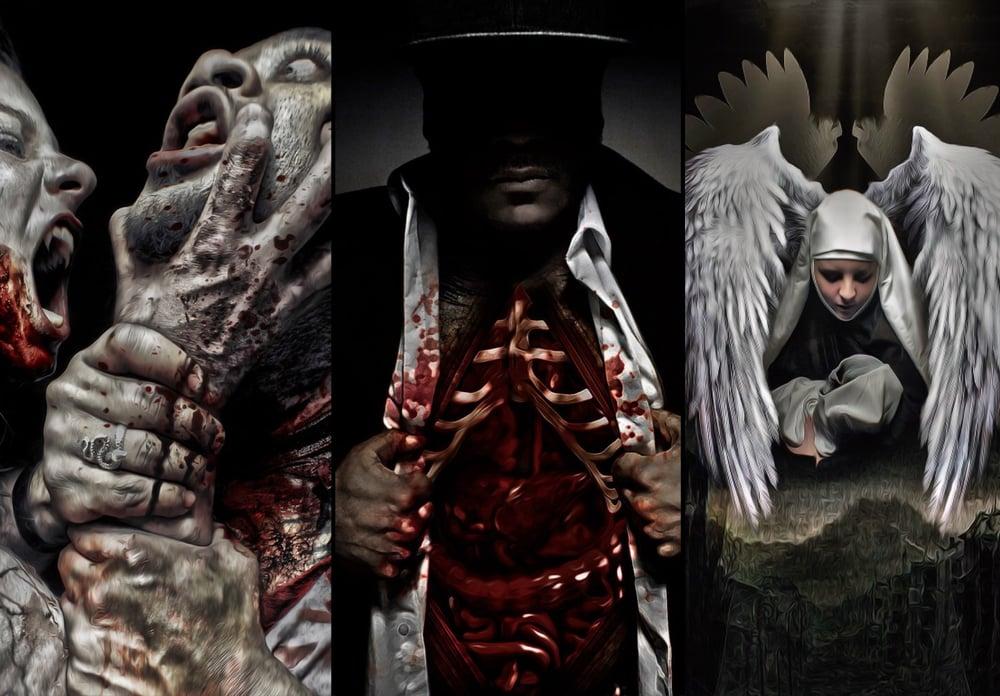 Image of Deathday Hellabration Art & Tee Bundle