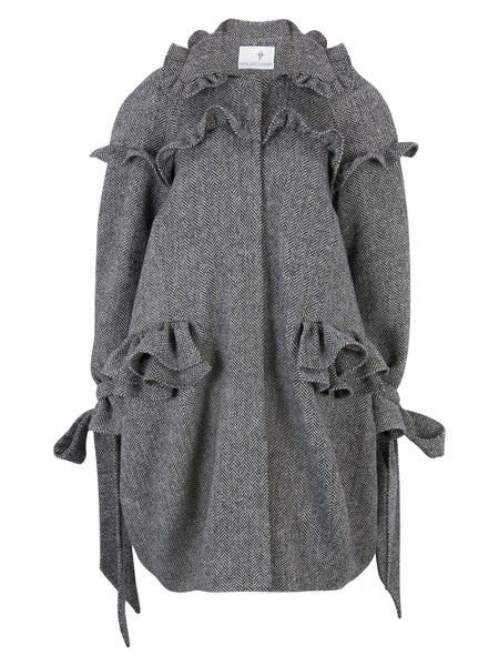 Image of Irish Tweed Pleated Coat