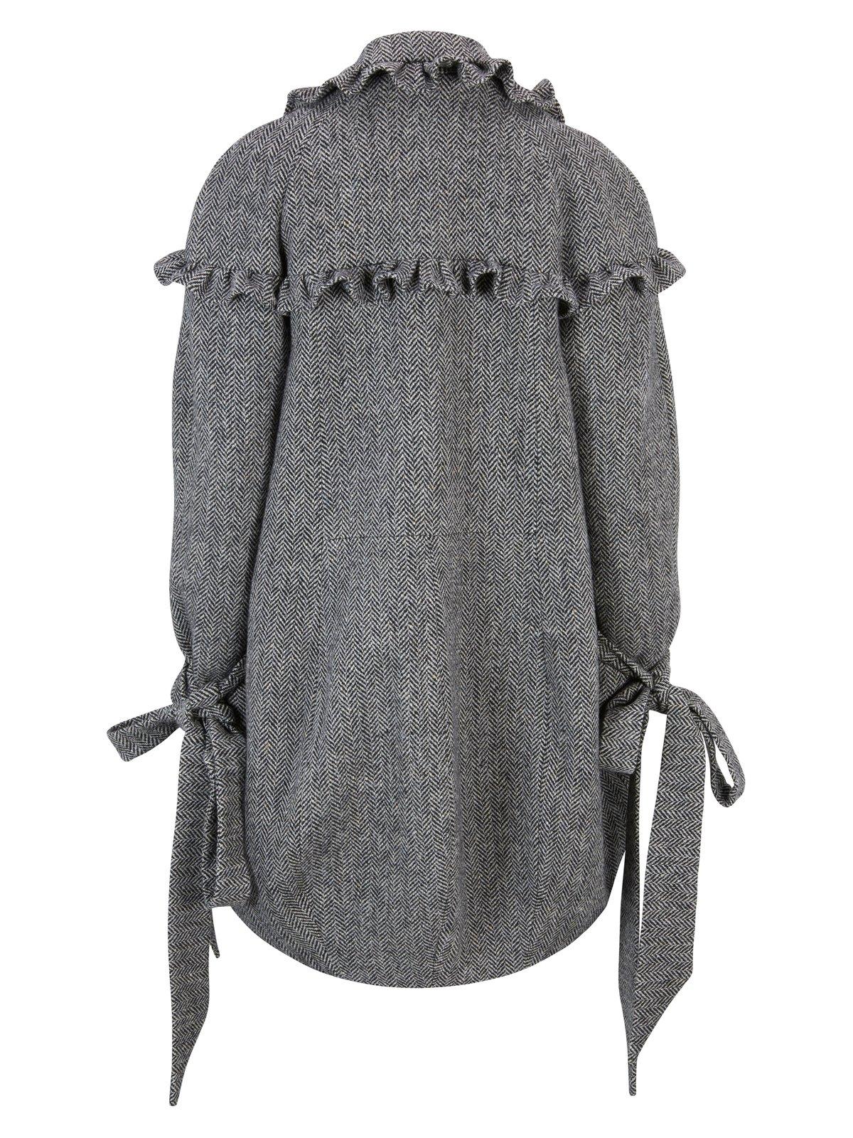 Image of Irish Tweed Pleated Coat