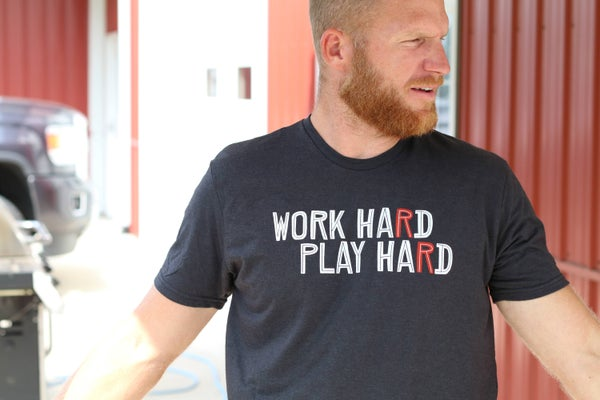 Image of Work Hard, Play Hard - RR Buildings T-shirt