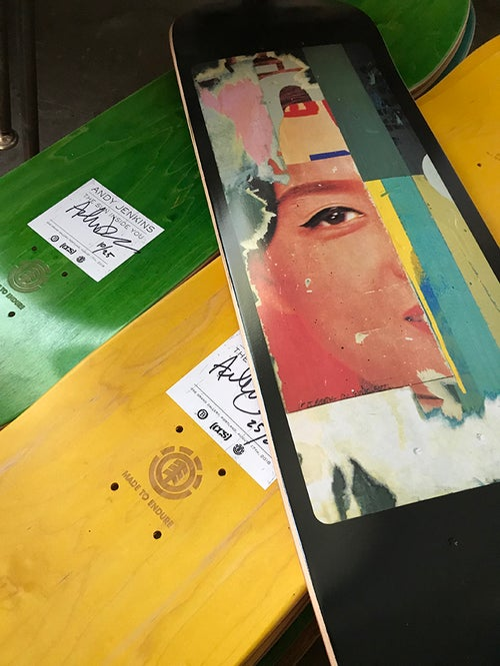 "Image of JENKINS ""The Sun Inside"" Skateboard"