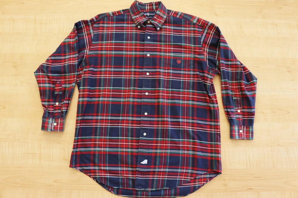 Image of Vintage 1990's Ralph Lauren Polo Crest Button Up Shirt Sz.S