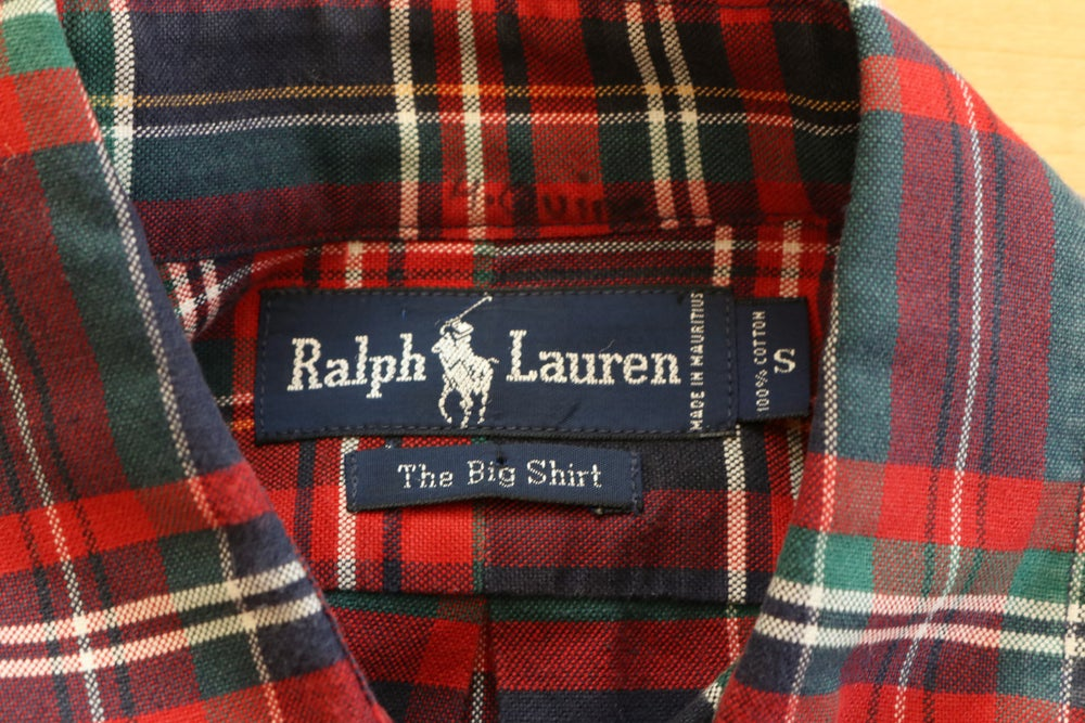 Image of Vintage 1990's Ralph Lauren Polo Crest Button Up Shirt Sz.S
