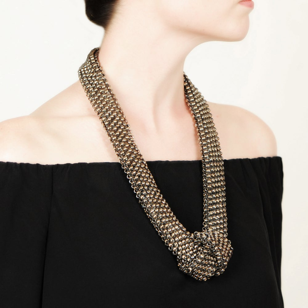 Image of BASIC (large bead) flat knot necklace