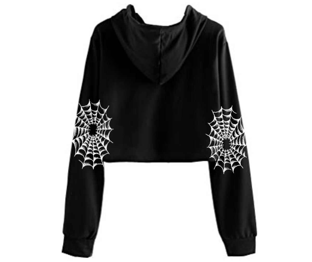 Image of Creepy Pinup Cropped Hoodie