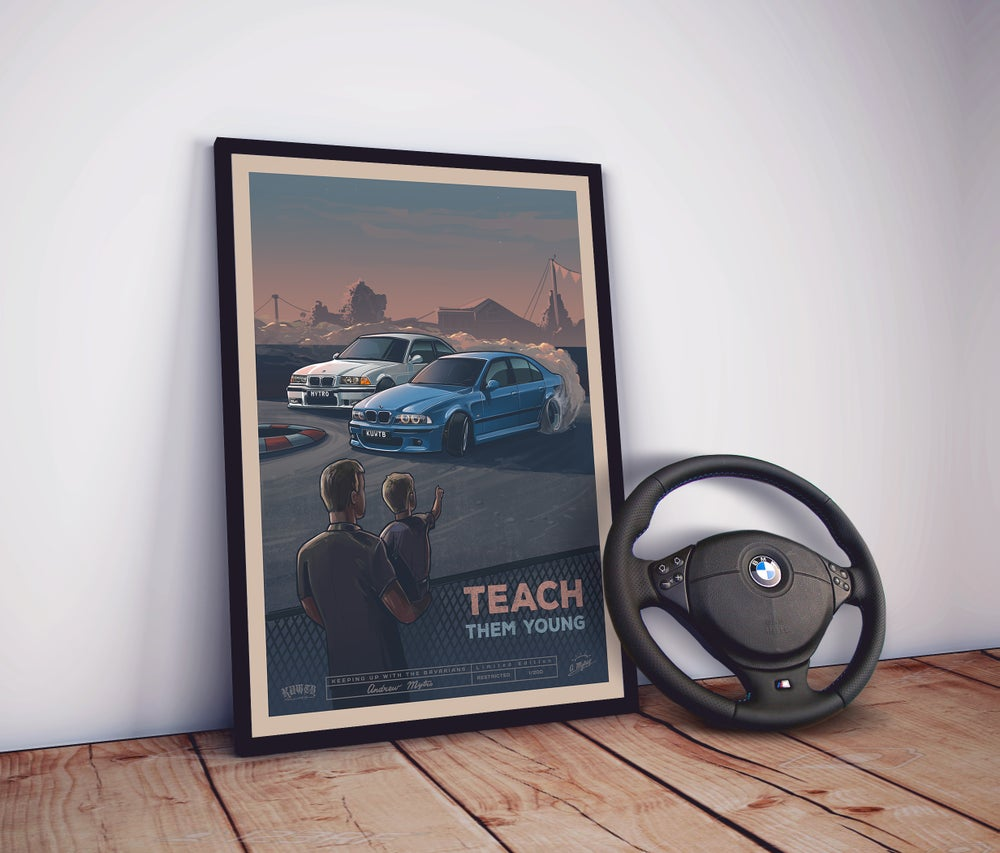 Image of Teach Them Young Limited Edition Poster (PRE-ORDER)