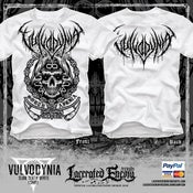 Image of VULVODYNIA - Slam Death White shirt - logo on back