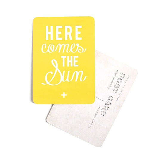 "Image of Carte Postale ""HERE COMES THE SUN"" CITRON"