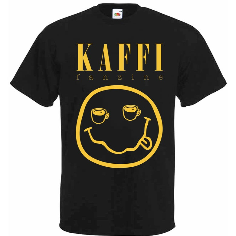 "Image of PRE-ORDER ""Smells Like Coffee"" kaffi fanzine t-shirt"