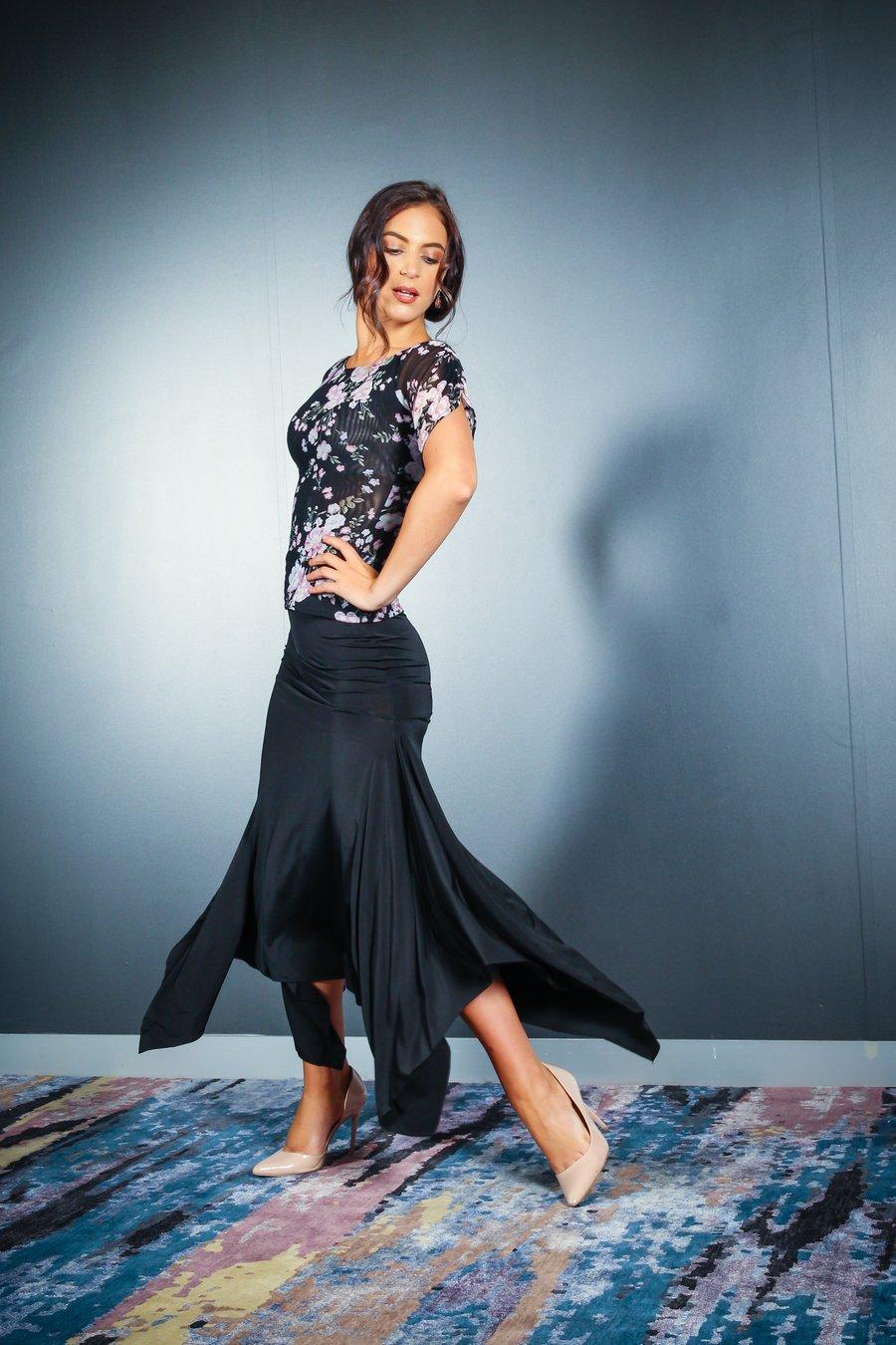 Image of Barcelona Skirt - Black J3346 Dancewear latin ballroom