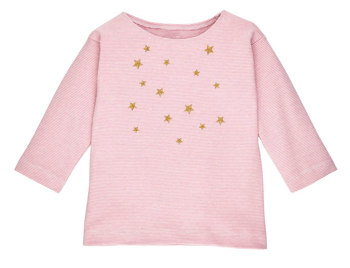 Image of SALE T-shirt rose gestreift mit goldenen Sternen Art. 235226