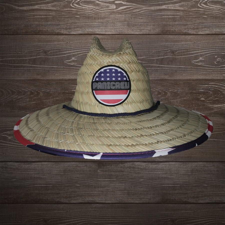 Image of Paradise Stars & Stripes Straw Lifegaurd Hat
