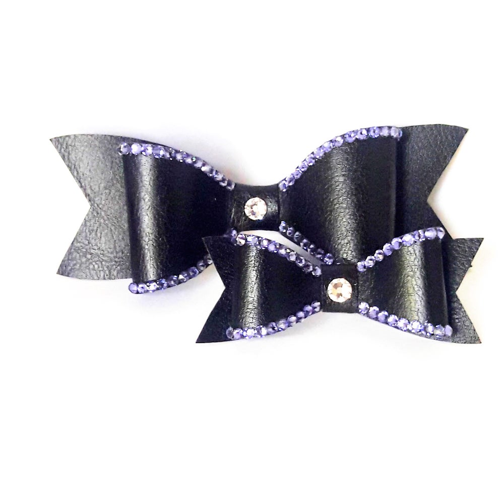 "Image of ""Lavish Lavender"" Crystal Bling Hair Bow"