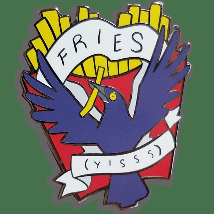 Image of Fry Grackle Heraldic Pin